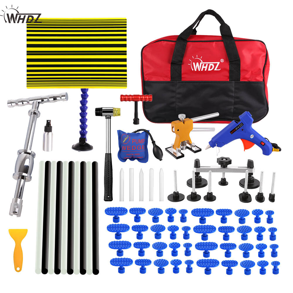 WHDZ PDR Dent Repair Tool set Slide Hammer Line board Dent Puller glue gun auto body repair tools Dent removal tool kit