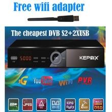 KEPNIX Receptor de Satélite + WIFI adaptador 1080 P Ccam Apoyo wifi 3g youporn DVB-S2 receptor de satelite powervu vs freesat v7 max
