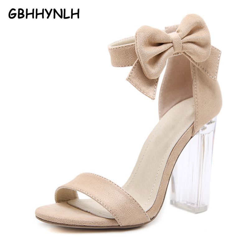 9c0f58d1a36 GBHHYNLH exy Women Sandals PVC Transparent shoes High Heels Gladiator Peep  Toe Shoes Clear Chunky Heels Women Sandalias LJA225