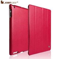 Funda de marca Jisoncase para iPad 2/3/4 funda protectora de cuero pu funda inteligente para iPad 2/3/4 Envío gratis diseño de moda nuevo