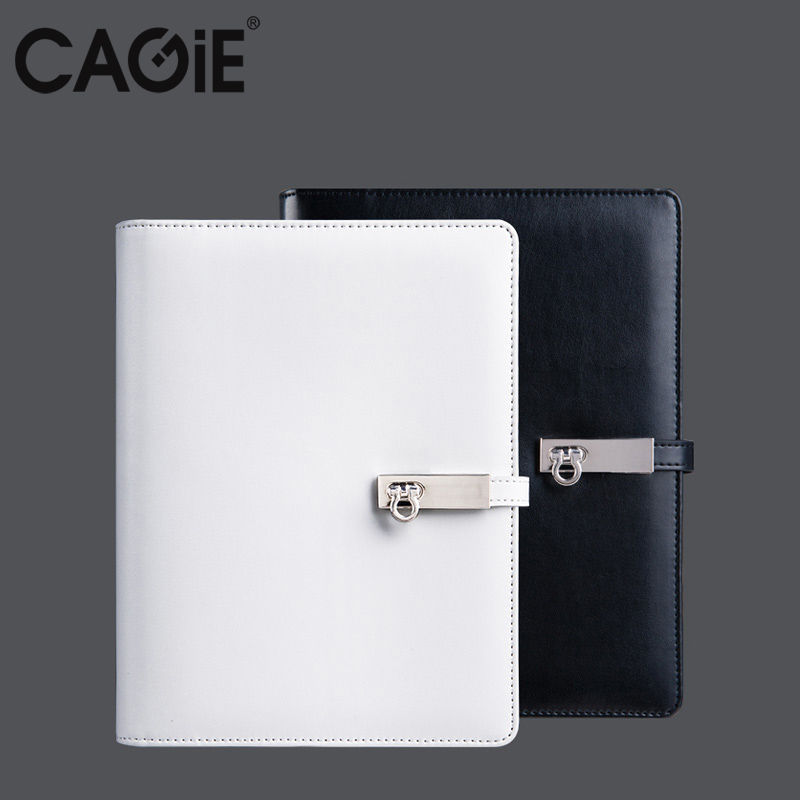 CAGIE 2017 Spiral Black/White Notebook A5/A6 Travelers Diary Planner Organizer Agenda Office/School Filofax Birthday Gift sketchbook diary agenda planner organizer planner spiral notebook a5 planner binder address book notebook filofax exercise book