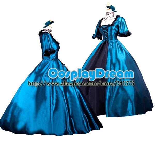 Custom made Elegant classic gothic victorian style ball gowns dress lolita  long dress evening dress Gothic Lolita costume 018fb66fb0c1