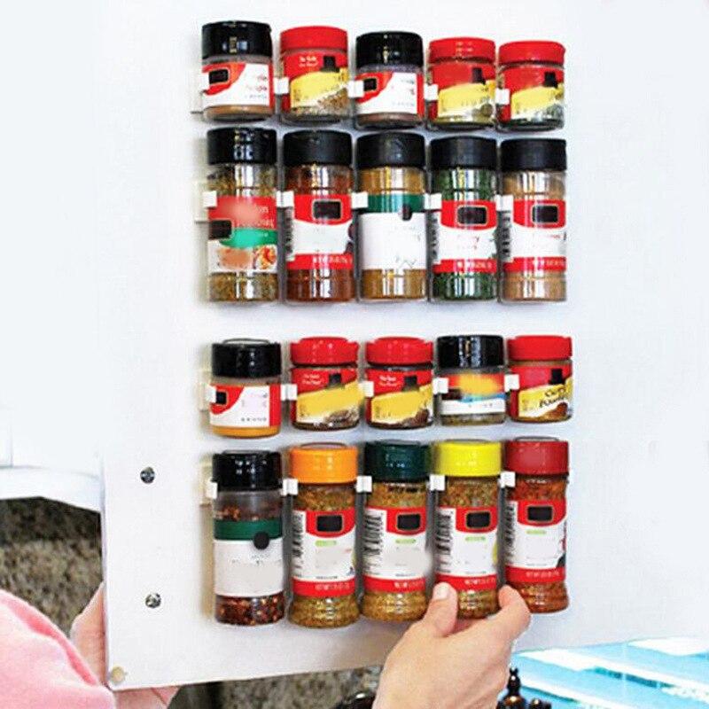 Домашний кухонный органайзер для специй стойка палка для хранения лекарственных бутылок держатель для ванной и кухни гаджеты организация Полки и держатели      АлиЭкспресс