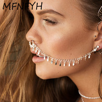 MFNFYH Nose Rings And Studs Fake Septum Piercing Summer U Shape Nose Hoop Fake Nose Rings