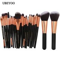 UBEYOO Professional 22Pcs Lot Makeup Brush Set Black Red Color For Choice Good Quality Make Up