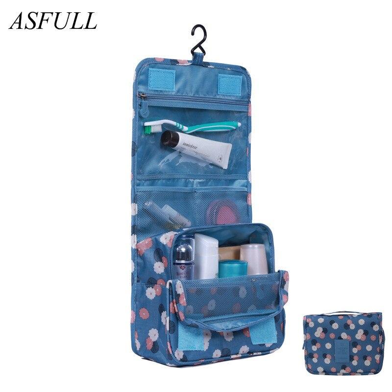 ASFULL útil nueva moda bolsas de aseo bolsa de lavado bolsas de cosméticos, viaje de negocios accesorios de equipaje impermeable baño uso