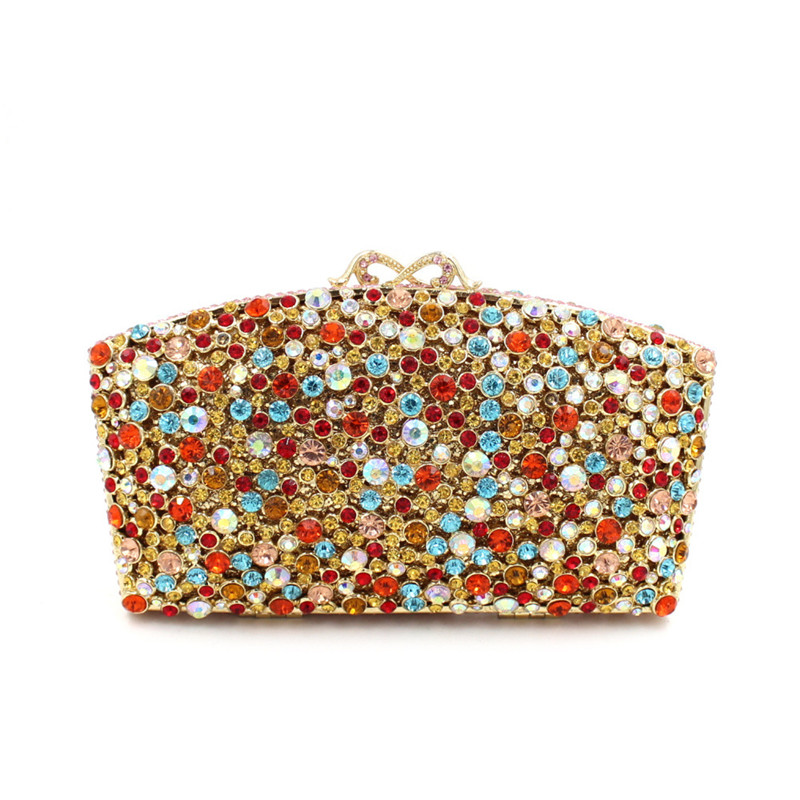 Flower Crystal Evening Bag Clutch Bags Clutches Lady Wedding Purse Rhinestones Wedding evening Handbags