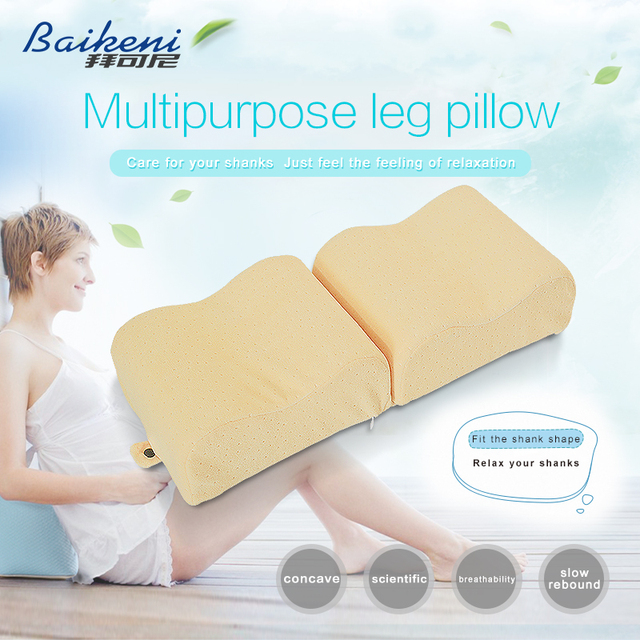 New Memory Foam Knee Leg Pillow Pregnant For Women Outdoor Travel Support Cushion Bed