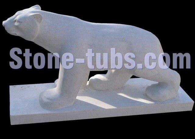 Beau Stone Marble Sculptures Garden Bear Statue Stone Animals For The Garden
