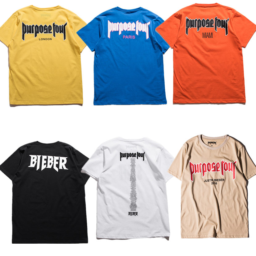purpose tour t shirt men women 1 1 high quality justin. Black Bedroom Furniture Sets. Home Design Ideas