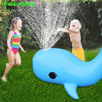 Inflatable Dolphin Water Sprayer Sprinkler Kids Outdoor Fun Toy For Hot Summer Swimming Beach Pool Play Sprinkler Splash Playing