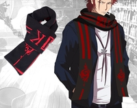 K Project Suoh Mikoto Homra Cosplay 6.9 Feet Warm Soft Knitted Scarf
