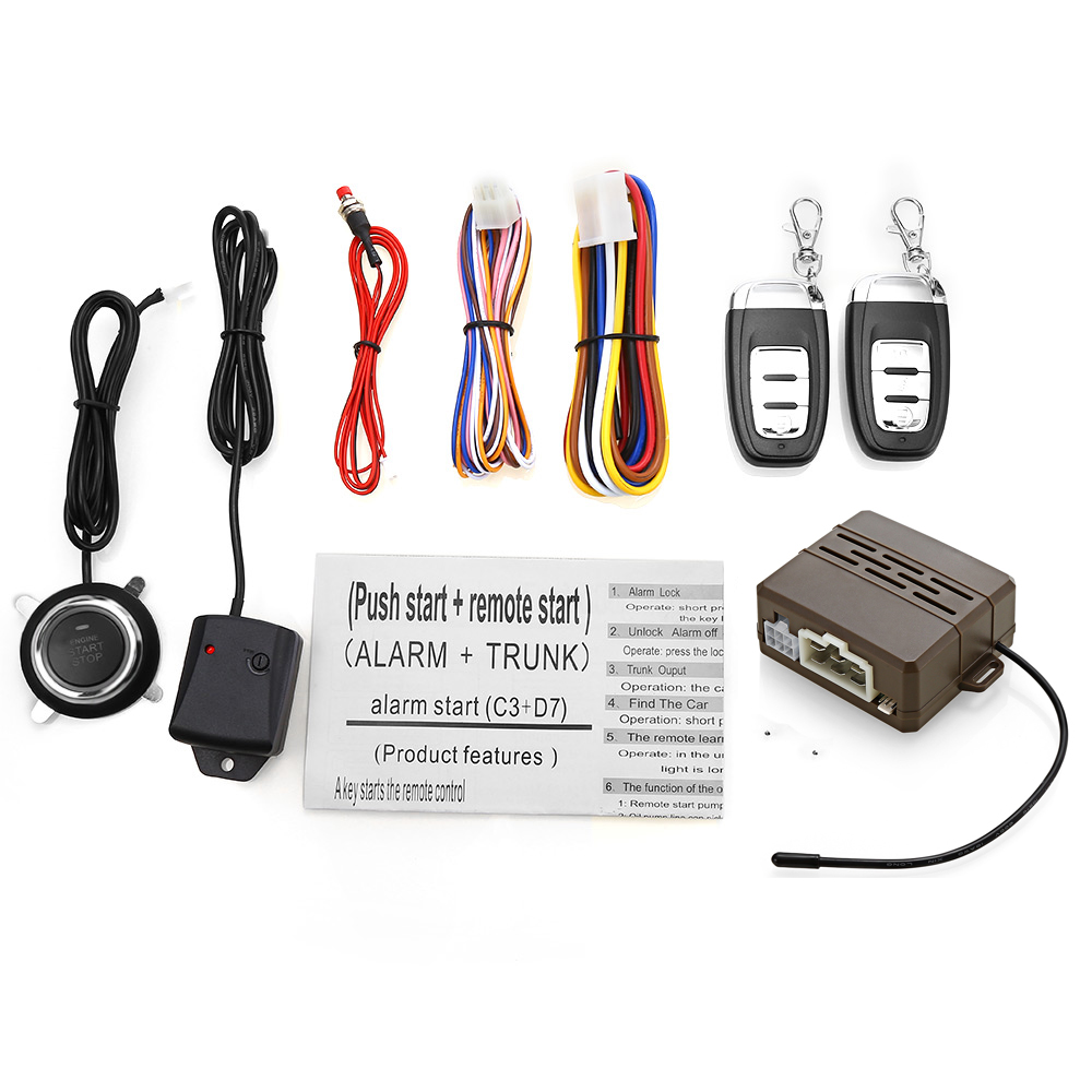 Système antivol universel 12 V pour voiture Kit de verrouillage Central à distance alarme de Vibration automatique sans clé télécommande de démarrage à une clé