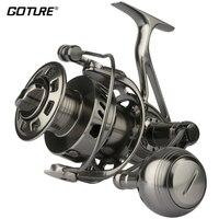 Goture II Cast 100% полностью металлическая с ЧПУ обработанная соленая вода спиннинговая Рыболовная катушка длинное литье большая игра лодка рыбол