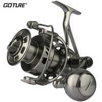 Goture II-Cast 100% Full Metal CNC Machined Saltwater Spinning Fishing Reel Long Casting Big Game Boat Fishing Trolling Wheel