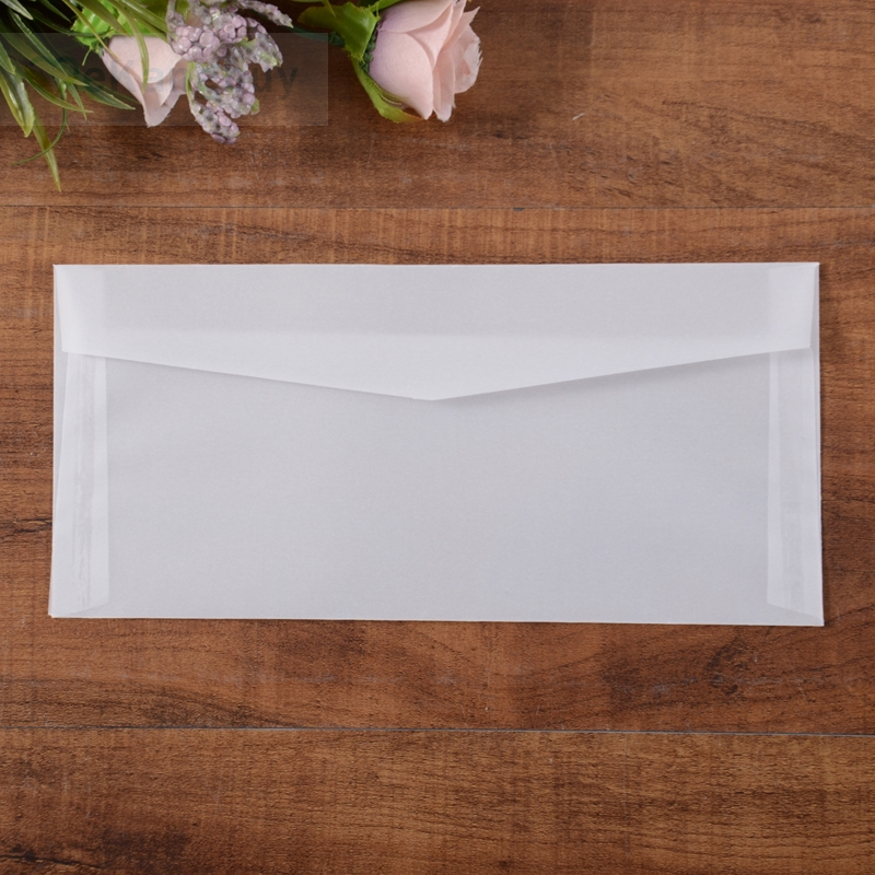 Image 4 - 50pcs Translucent Blank White Parchment Paper Envelope Postcards Invitations Cover Envelopes-in Paper Envelopes from Office & School Supplies