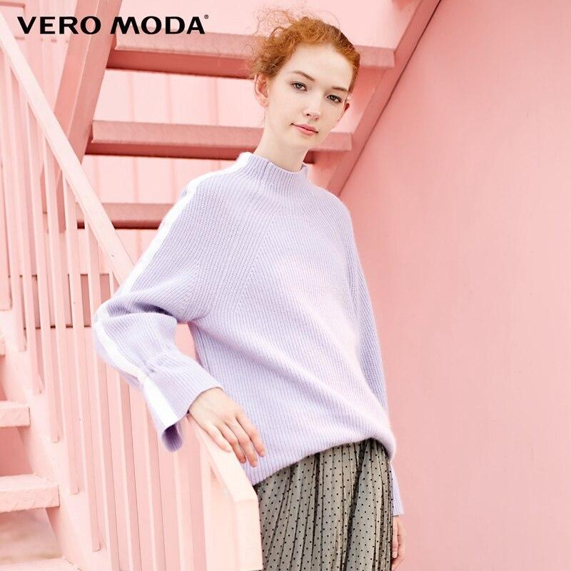 Vero Moda 2019 nieuwe wol half hoge kraag uitlopende mouwen trui  318413520-in Truien van Dames Kleding op AliExpress - 11.11_Dubbel 11Vrijgezellendag 1