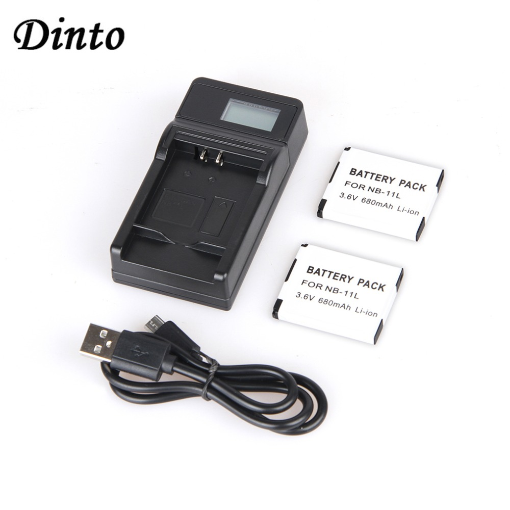 Replacement for Canon IXUS 132 Battery and Charger Compatible with Canon NB-11L Digital Camera Batteries and Chargers 680mAh 3.6V Lithium-Ion