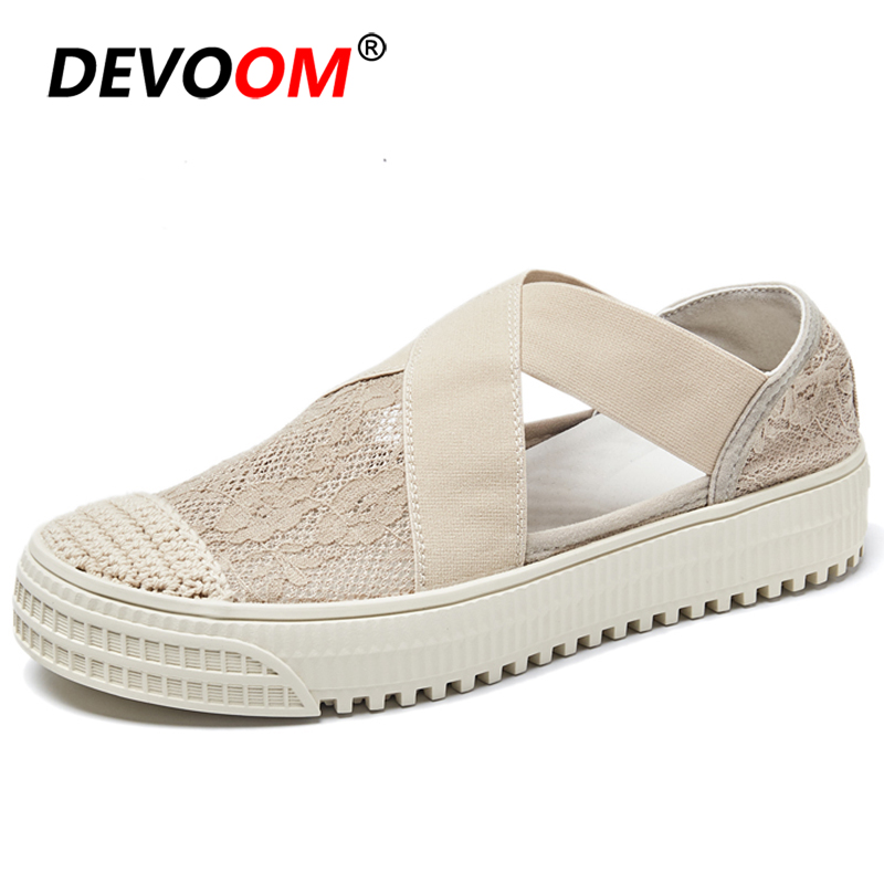 Fashion Mesh Alpargatas Breath Moccasin Shoes Women Summer Beach Ladies Loafers Womens Shoes Flats Womens Flats 2019 Lady Shoes image
