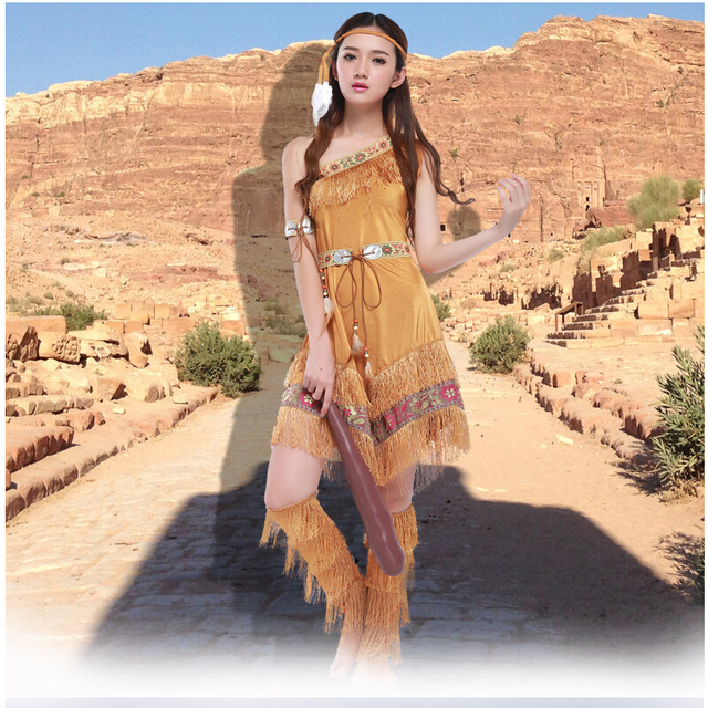 0bc9cb604944 Free shipping!!! Halloween Costumes For Women Sexy Cosplay Costume Indian  Goddess Fancy Dress Party