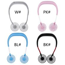 HNGCHOIGE Hands Free Neck-Type Hanging Personal Fan With USB Cable Rechageable Mini Cooling Summer Portable