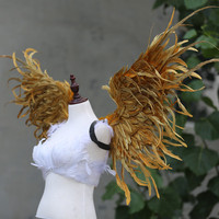 Large size gold angel wings fit for Cartoon performance dancing stage performance creat Wedding decorations Pure handmade