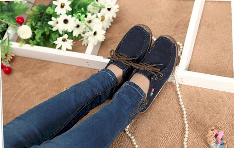 Summer style women casual shoes 2016 new fashion leather women shoes solid lace up flat shoes woman chaussure femme BT468 (4)