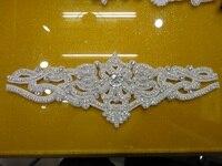 New Bling Rhinestone Beaded Bridal Trims For Dresses Wedding Necklace Sew On Rhinestone Trimming