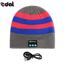 EDAL Soft Warm Beanie Hat Earphone Wireless Bluetooth Smart Cap Headset Headphone Speaker Mic Bluetooth Hats Hot Sale(China)