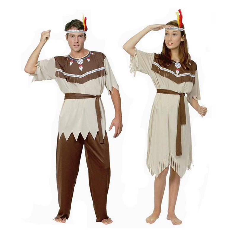 Female Primitive Halloween Cosplay Costume Indian Tribal