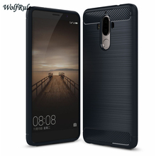 WolfRule Case Cover Huawei Mate 9 Shockproof Silicone Brushe