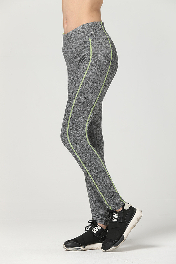 Women Two Thin Lines Fitness Quick Drying Exercise Leggings High Waist Energy Pants Trousers Ropa Mujer