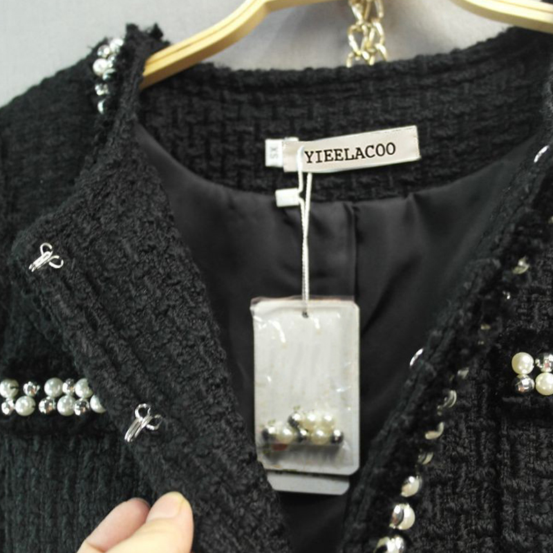 Color Nero In Shorts Pesante Gonne Donne Tweed 2017 Signore Rilievo Color Vestito Suit inverno Lana bianco Pannello Di picture Giacca Autunno picture Esterno Delle 0rU1q0