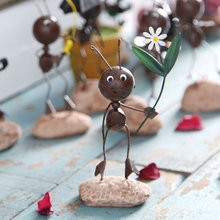 ФОТО adorable cute iron ants crafts dolls figurines home decoration accessories iron handicrafts home decor ornaments creative gift