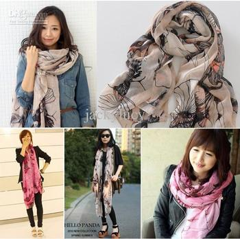 Retial New Arrival Korean fashion ladys autumn and winter scarves shawls extended to increase Free Shipping