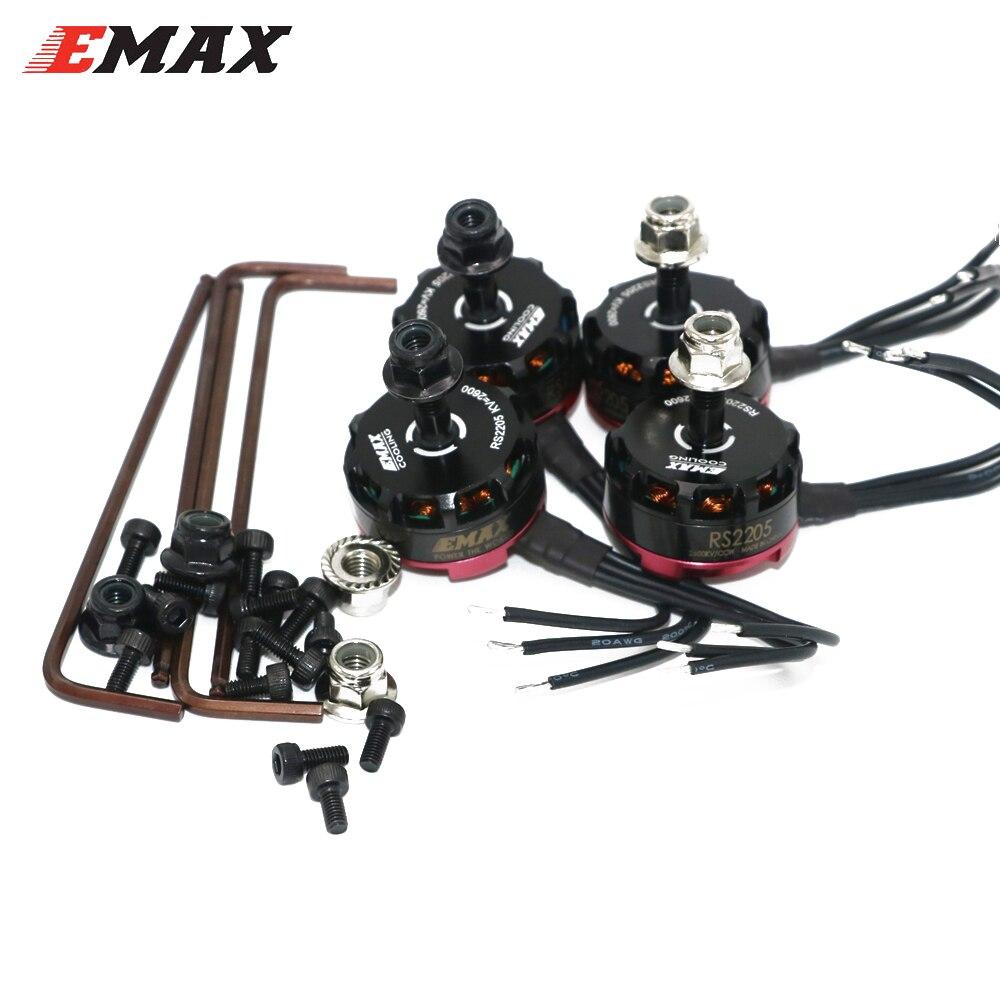 4pcs lot Emax RS2205 2300KV 2600KV Brushless Motor For QAV200 210 250 FPV Quad Racing QAV
