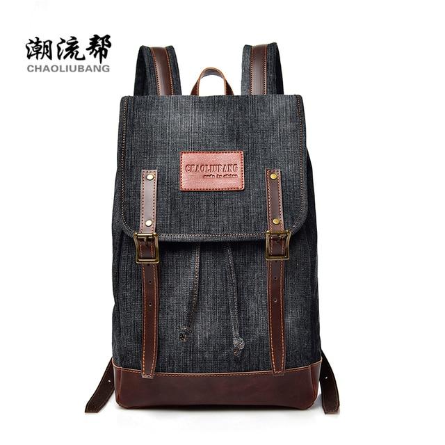 2018 New Men S Bag Retro Denim Young Snd Eomen Backpack Large Capacity Laptop School