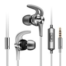 4 colors Metal in-ear sports running wired 3.5mm earphone FG20J Stereo music earbuds with microphone for xiaomi huawei phone mp3 sound intone e6 wired earphone stereo music earphones sports running ipx4 earbuds 3 5 mm plug earpiecs for xiaomi mobile phone
