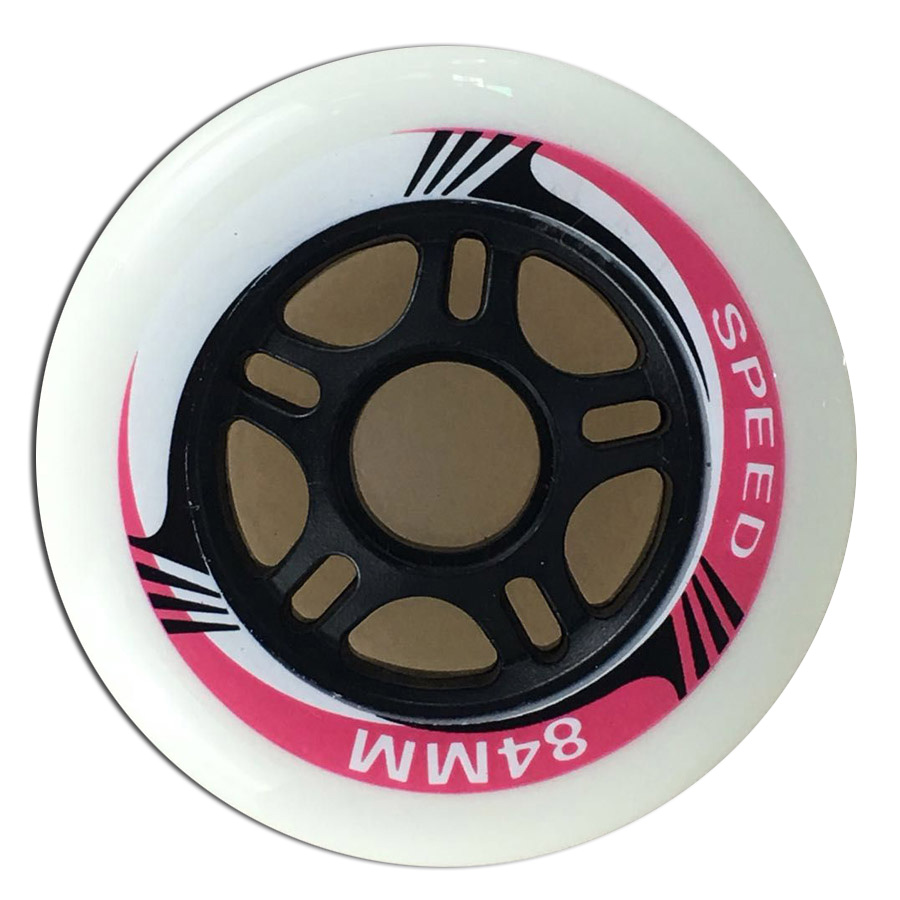 Promoting! 80A 84mm 8 pcs/Lot Inline Skate Wheels Professional Speed Free Skating Roller Skating Wheels For Racing Patines A119