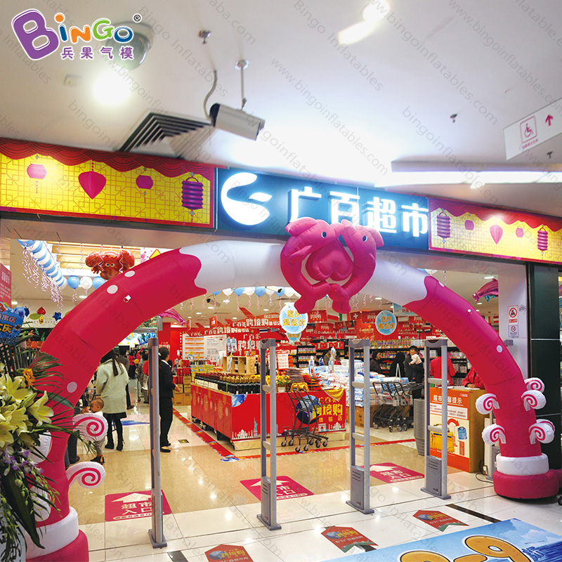 Wedding entrance arch inflatable double dolphin arch for advertising inflatable toysWedding entrance arch inflatable double dolphin arch for advertising inflatable toys