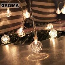 10 м, 100 лампочек, шаровые гирлянды, Рождественская гирлянда, светодиодный гирлянда, украшение, свадебные, вечерние, для дома, спальни, праздничное освещение