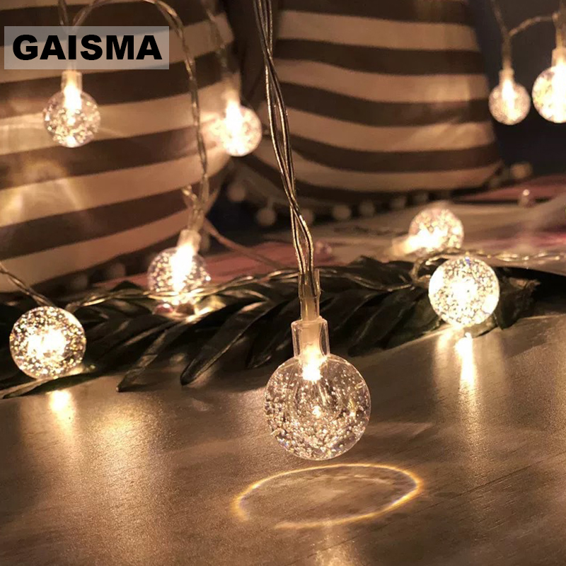 10M 100 Bulbs Ball Fairy <font><b>Lights</b></font> Christmas Garland LED String <font><b>Lights</b></font> <font><b>Decoration</b></font> Wedding <font><b>For</b></font> Party <font><b>Home</b></font> Bedroom Holiday Lighting image