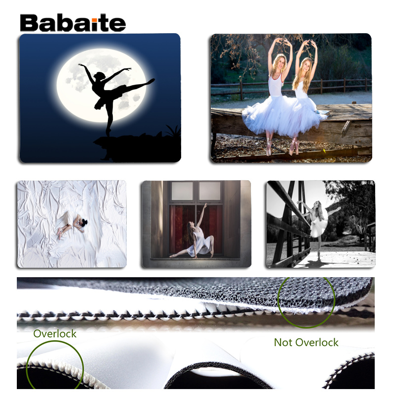 Babaite My Favorite Ballerina mouse pad gamer play mats Size for 18x22cm 25x29cm Rubber  ...
