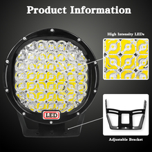 VISORAK 2017 New 9 inch LED Work Light Bar 255W 12V 24V Spot Flood LED Beams For 4WD 4×4 Car Truck Trailer ATV SUV Offroad Boat