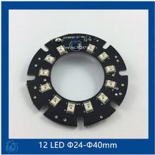 Ик 12 ИК СВЕТОДИОДНЫЕ табло для Камер ВИДЕОНАБЛЮДЕНИЯ ночного видения (малый F24-F40mm) SMT3528 LED(China (Mainland))