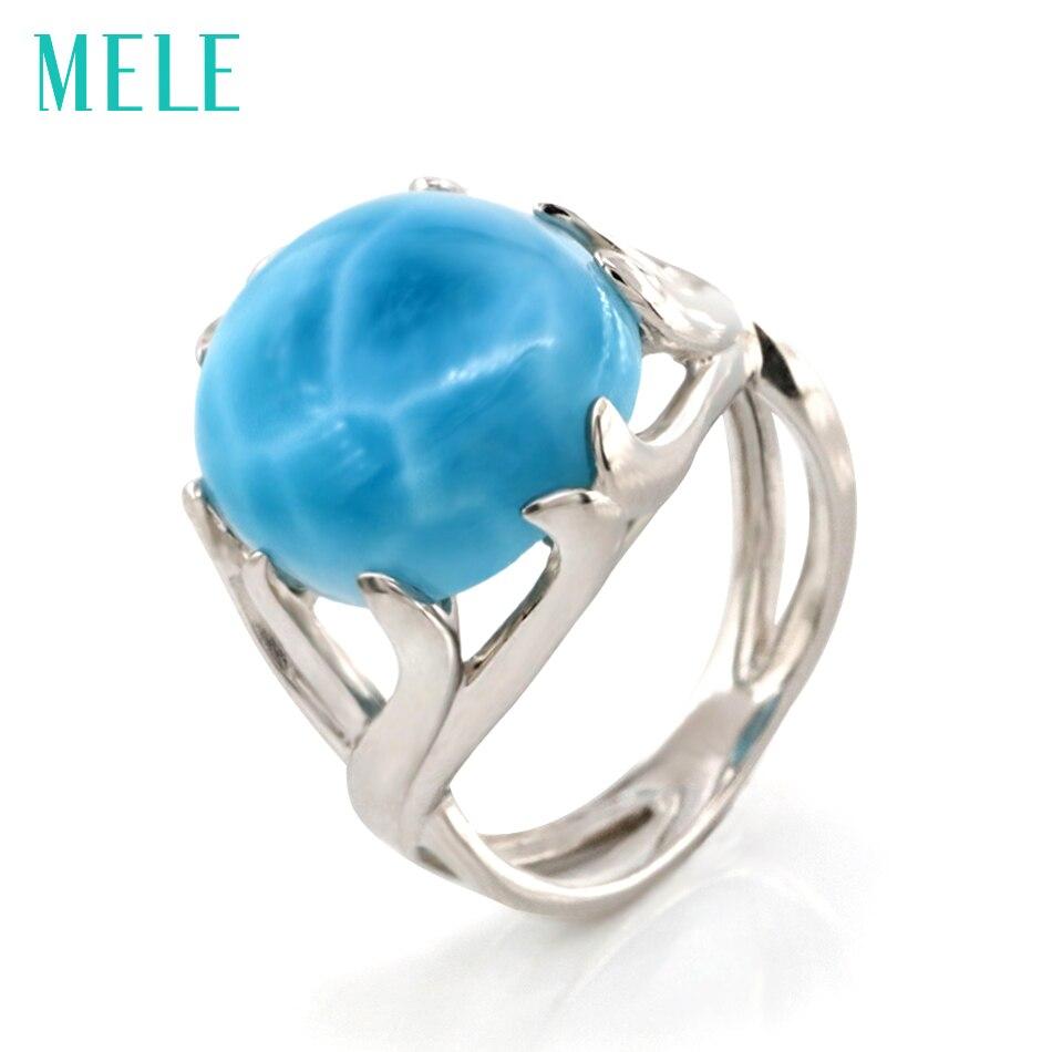 Топ qualitr Природный Ларимар 925 Серебро Кольца для женщин и человека, большой овальный камень с синий цвет изысканные модные ювелирные изделия