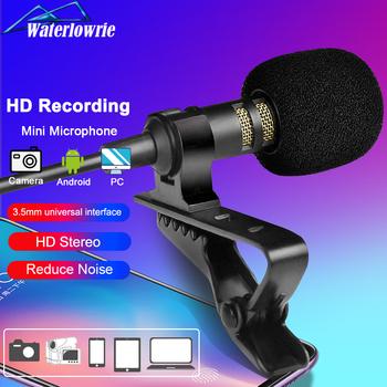Komputer telefon kamera Mini mikrofon usb przenośny zewnętrzny dziurki Microphone Lapel krawatowy MIC dla iPhone Laptop aparatu DSLR tanie i dobre opinie WaterLowrie Lavalier Mikrofon pojemnościowy Mikrofon komputerowy Pojedyncze Mikrofon Dookólna Przewodowy Mini USB Microphone