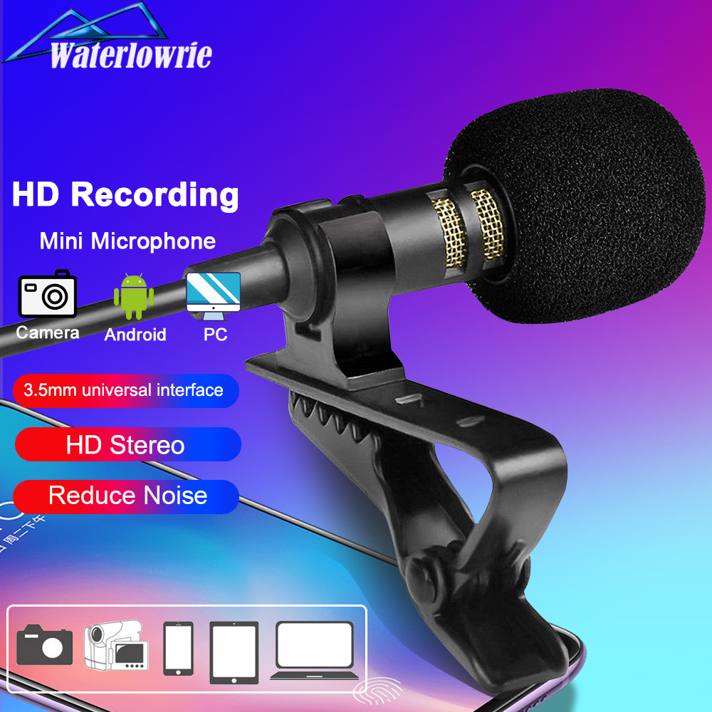 Lavalier Mic Microphone Computer Laptop Buttonhole Lapel Mini-Usb Pc/Phone/camera External title=