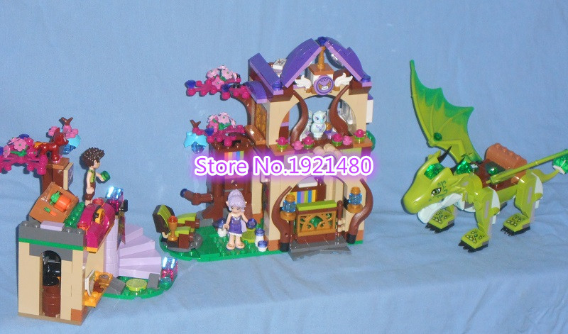 AIBOULLY 10504 694Pcs Friend Elves The Secret Market Place Model Building Kit minis Blocks Girl Toys For Children Gift 41176 10504 694 pcs the secret market place building kit dragon figures building block compatible with lepin girl toys gift