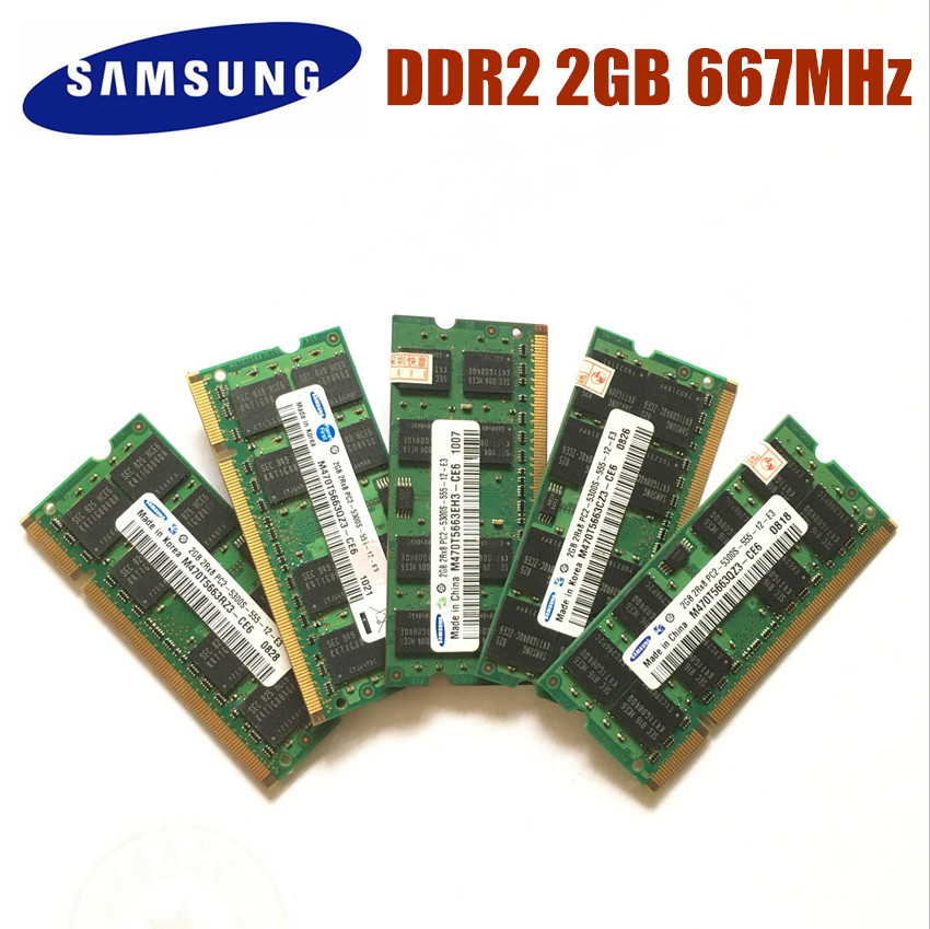 Samsung1GB 2GB 4GB 8GB 2G 4G PC2 PC3 DDR2 DDR3 667Mhz 800Mhz 1333Mhz 1600Mhz 5300S 6400S 8500S 10600S Laptop Memory Notebook RAM